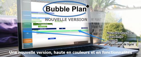 sortie de la nouvelle version de gestion de projet en ligne de Bubble Plan