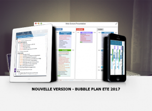 Nouvelles fonctionnalités Bubble Plan Ete 2017