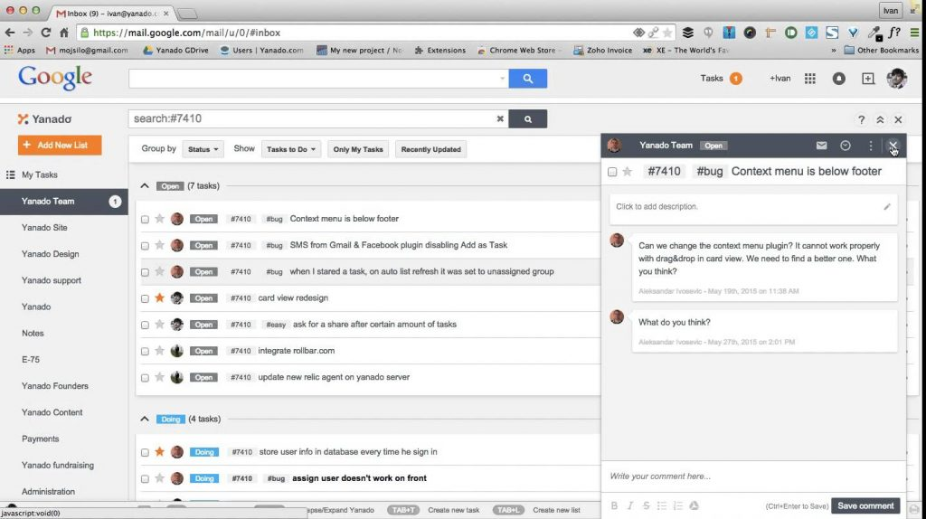 Suivi de tâches dans Gmail