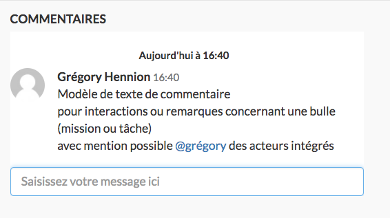 Commenter les actions et jalons entre collaborateurs