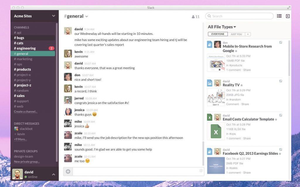 Slack en collaboratif projet