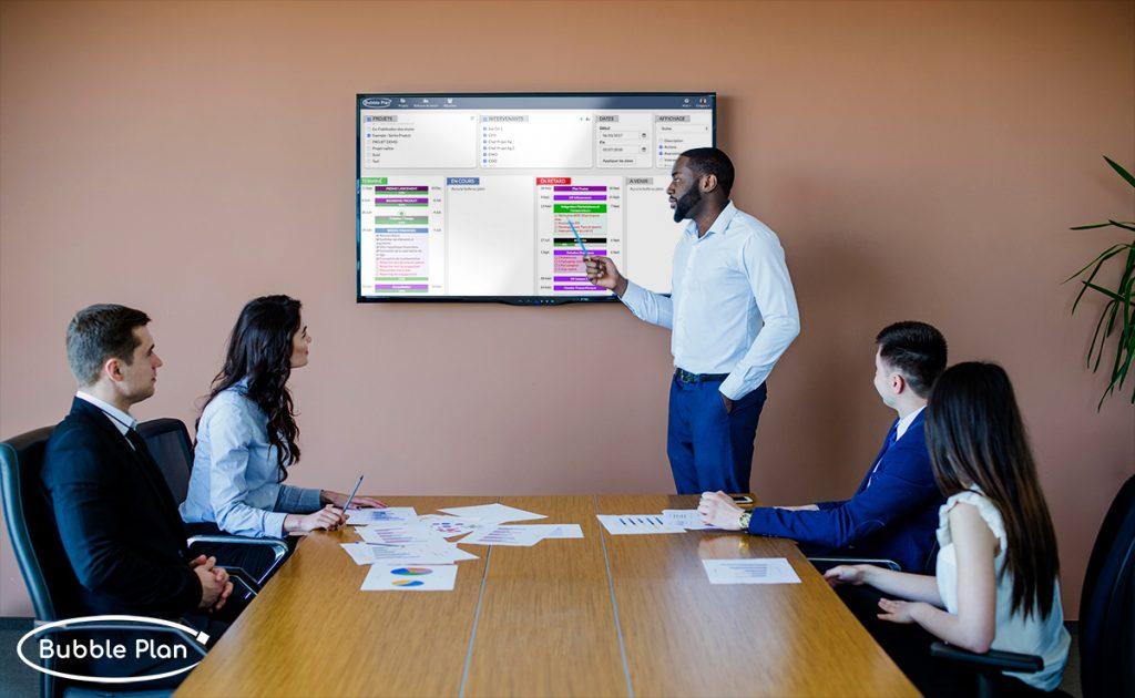 Présentation client en mode gestion de projet communication