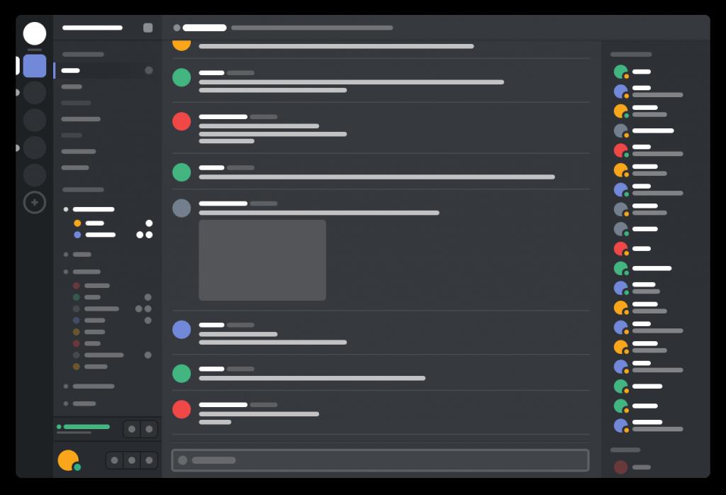 Vision minimaliste de l'interface Discord