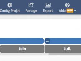 Modifier son axe temps avec le logiciel de gestion de projet Bubble Plan