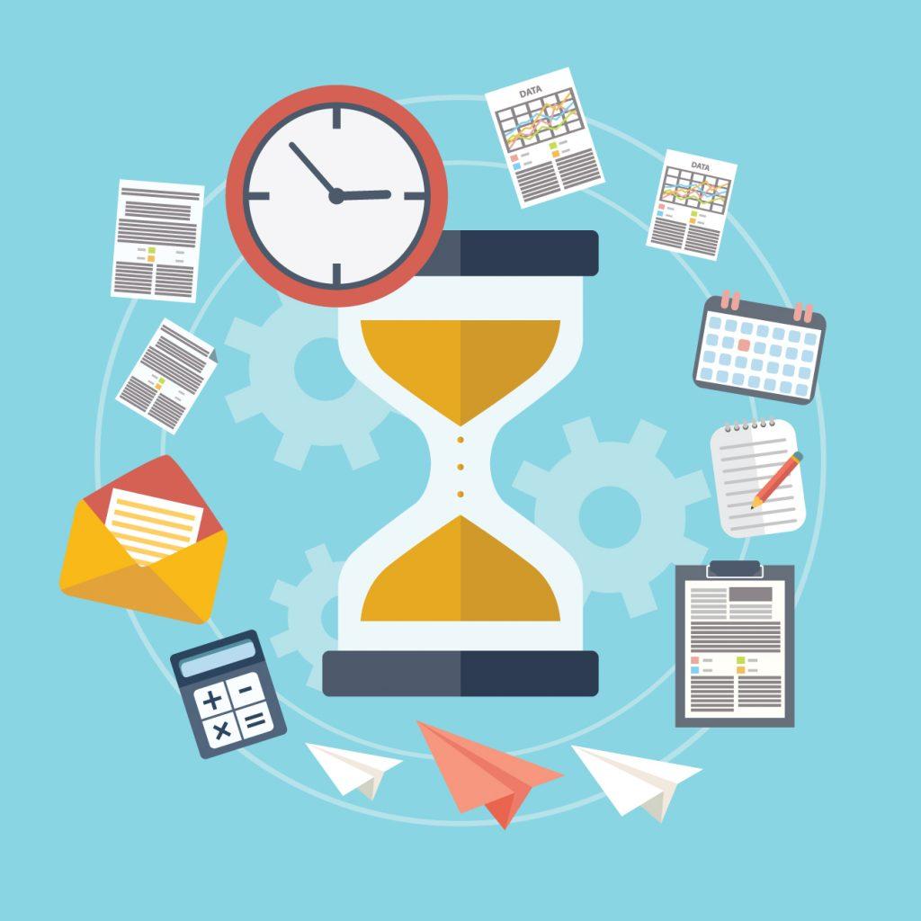 Illustration de la notion de temps en gestion de projet