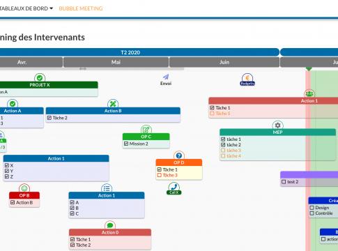 capture d'écran du nouveau planning des intervenants