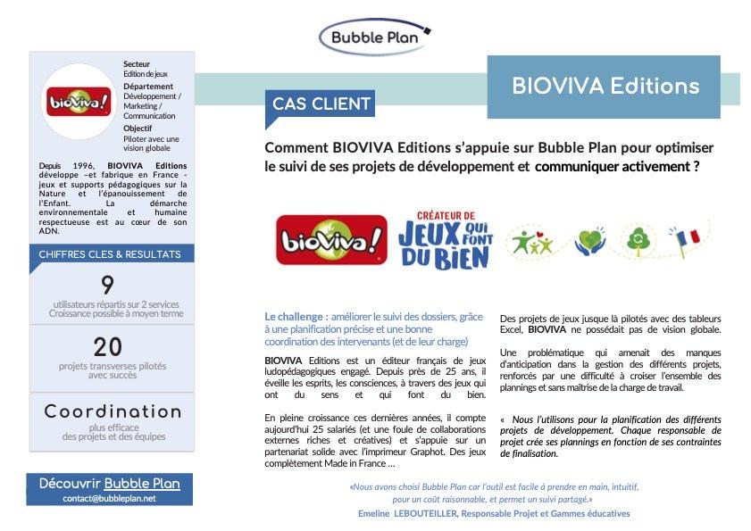Découvrez le cas client de l'éditeur Bioviva et son gain en efficacité