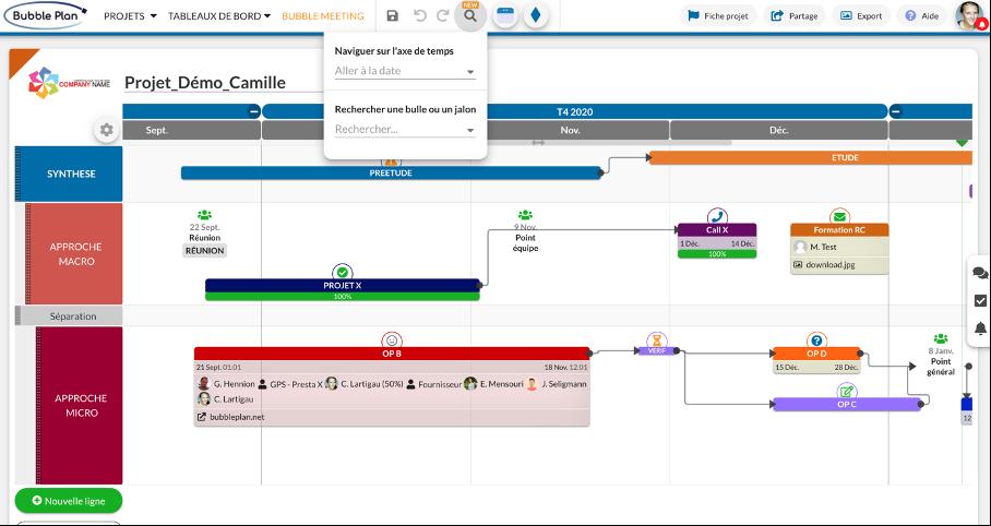 capture filtre recherche planning