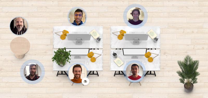 Interface bureau virtuel sur Teamflow