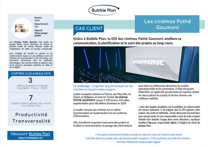 Pathé Gaumont cas client