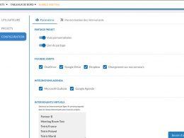 configuration parametres business